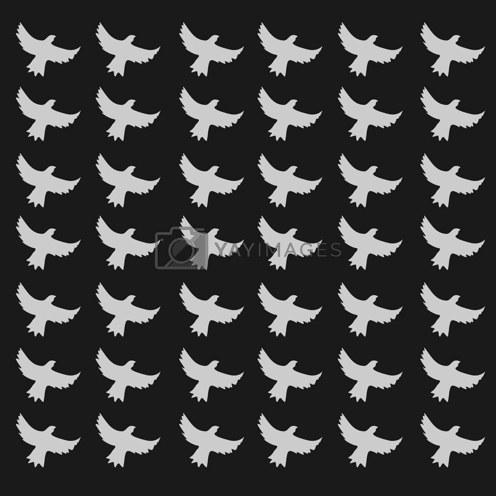 seamless birds pattern by siraanamwong