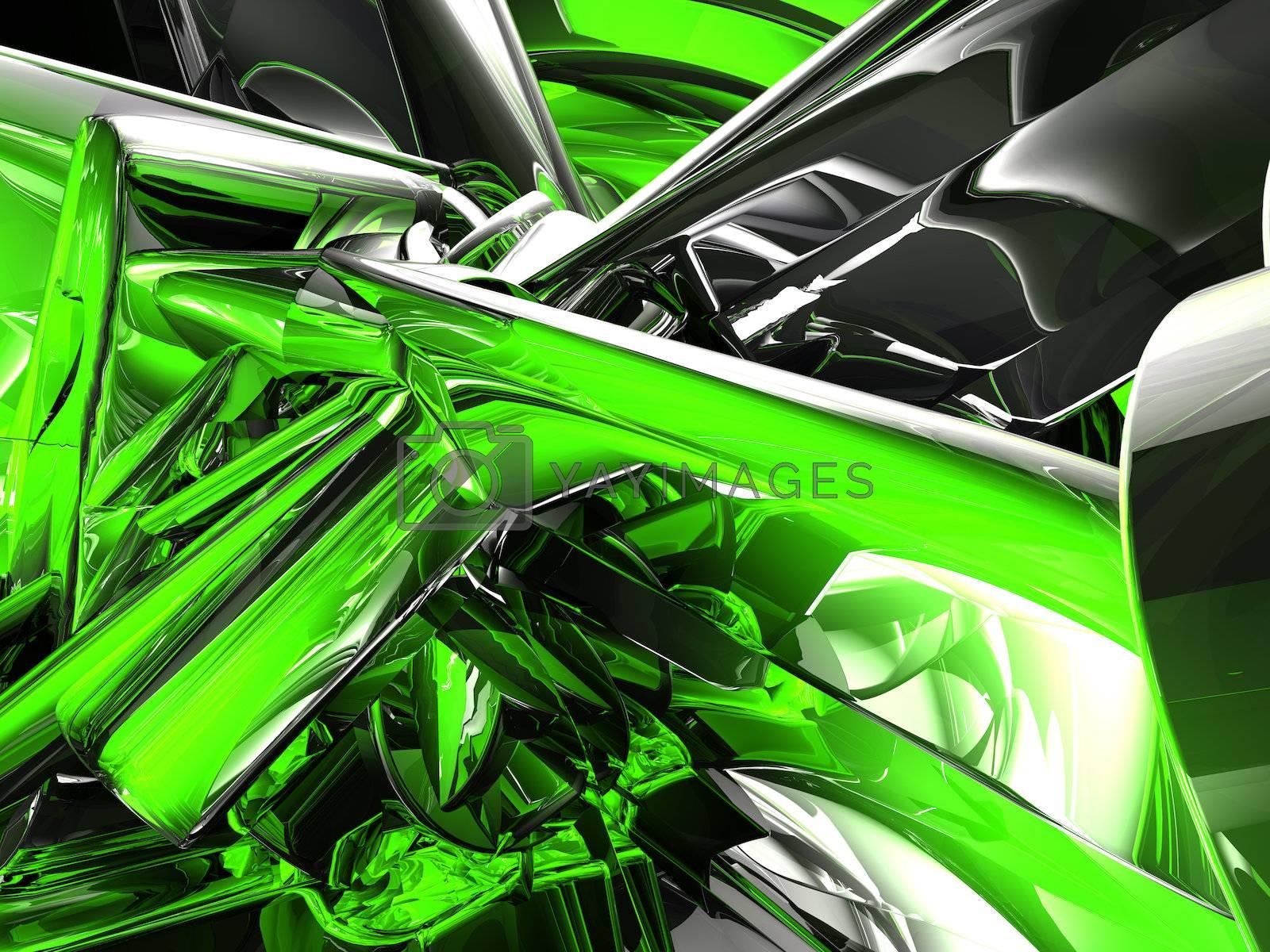 futuristic shiny metal background - 3d illustration