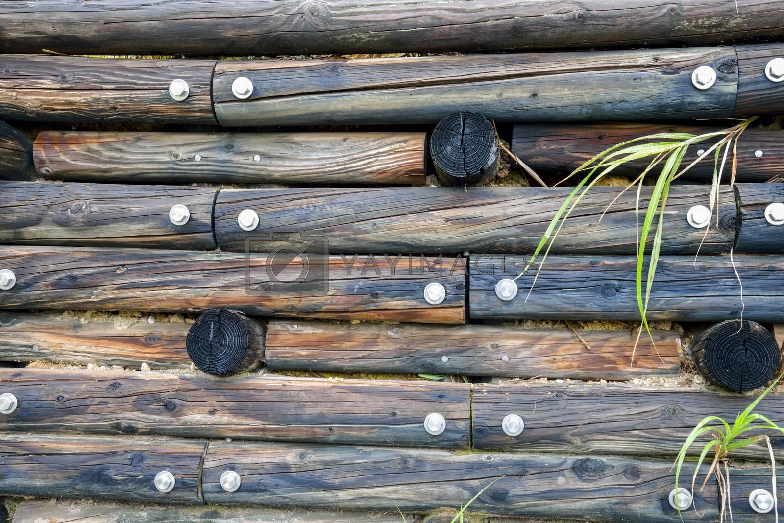 Wooden wall pattern by gjeerawut