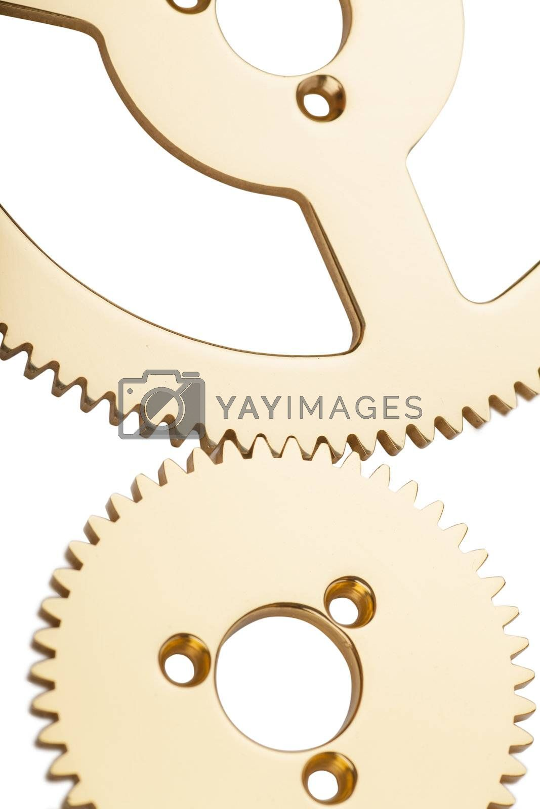Macro view of gears of machine part