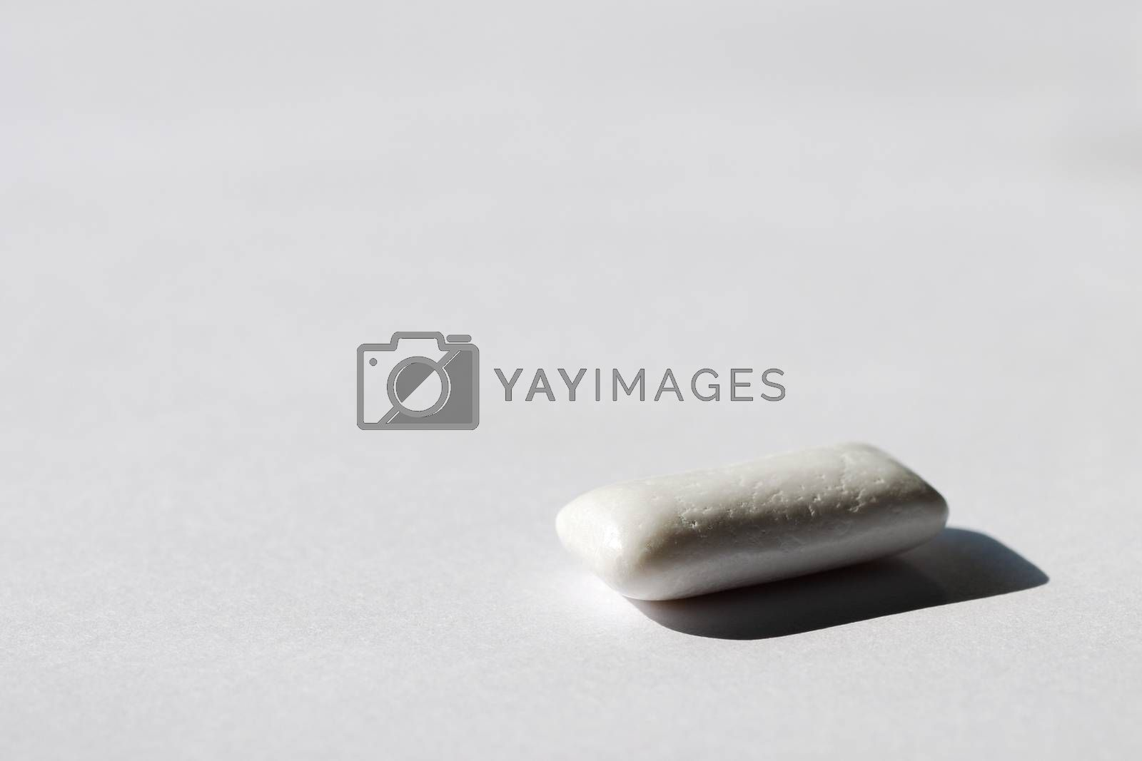 white chewing gum good for breath after eating on white background