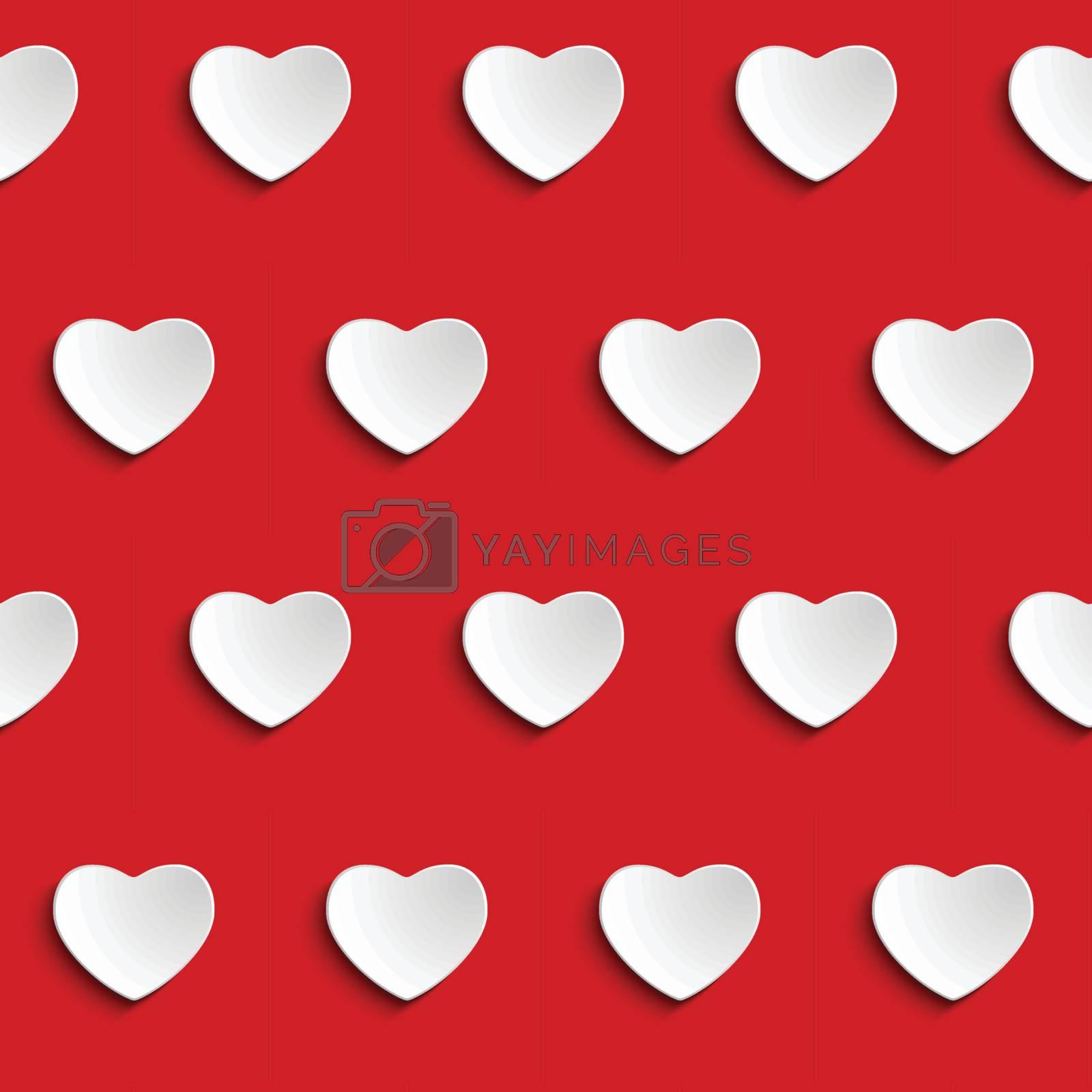 Valentine Day Heart Seamless Pattern Background Vector