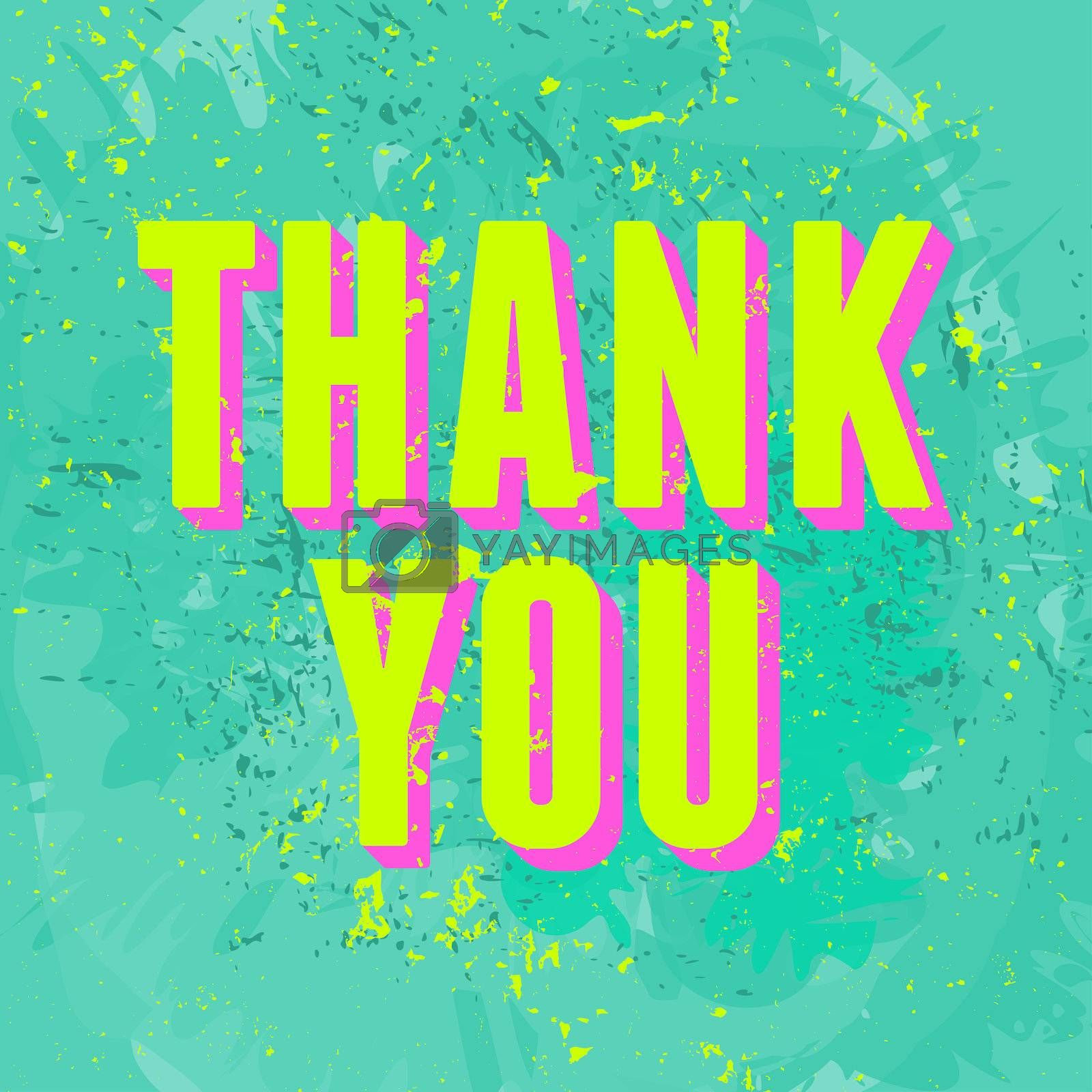 Abstract Thank You greeting card design.