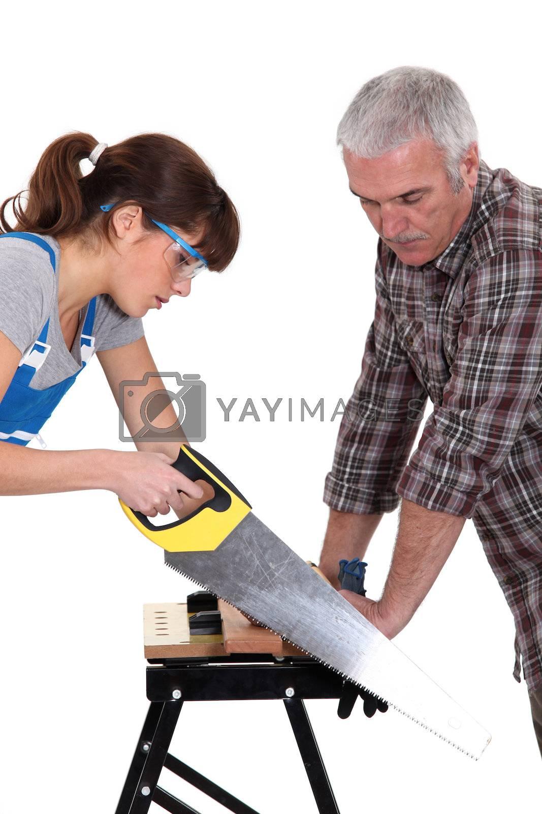 Carpenter's apprentice by phovoir