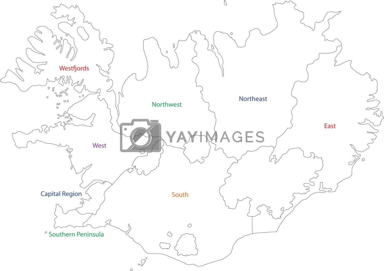 Image of: Outline Iceland Map Royalty Free Stock Image Stock Photos Royalty Free Images Vectors Footage Yayimages