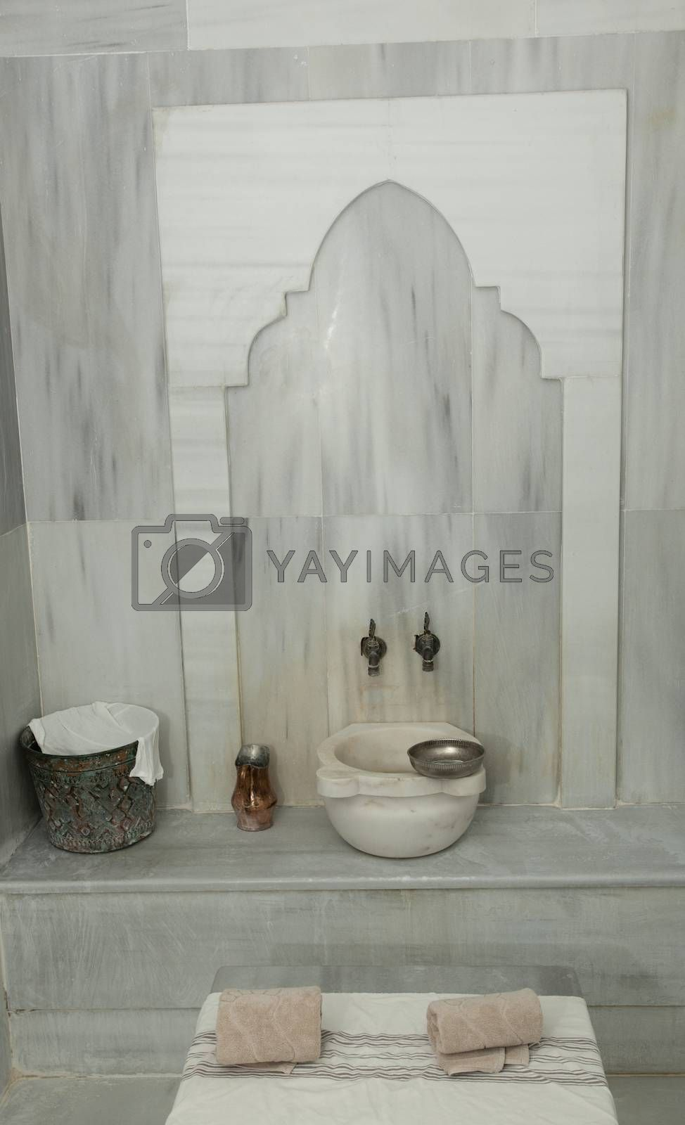 empty turkish hamam