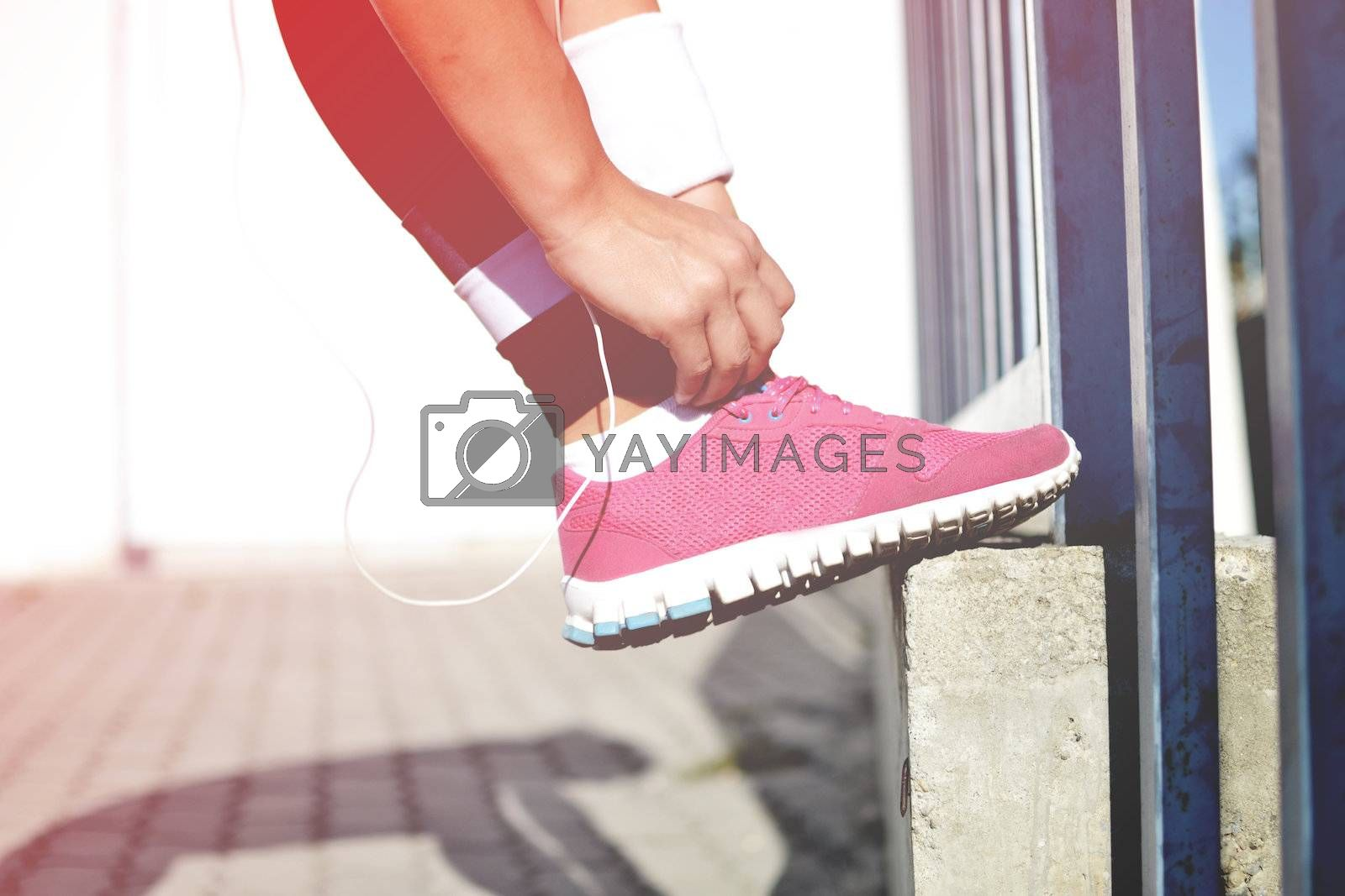 fitness woman, outside shot