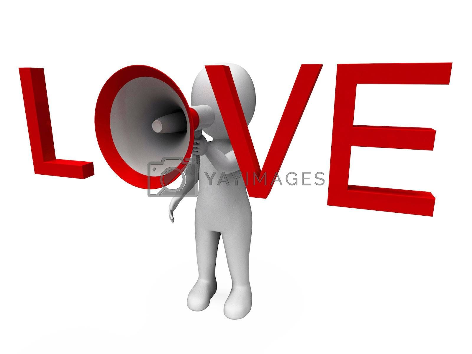 Love 3d Character Showing Romance Loving And Feelings