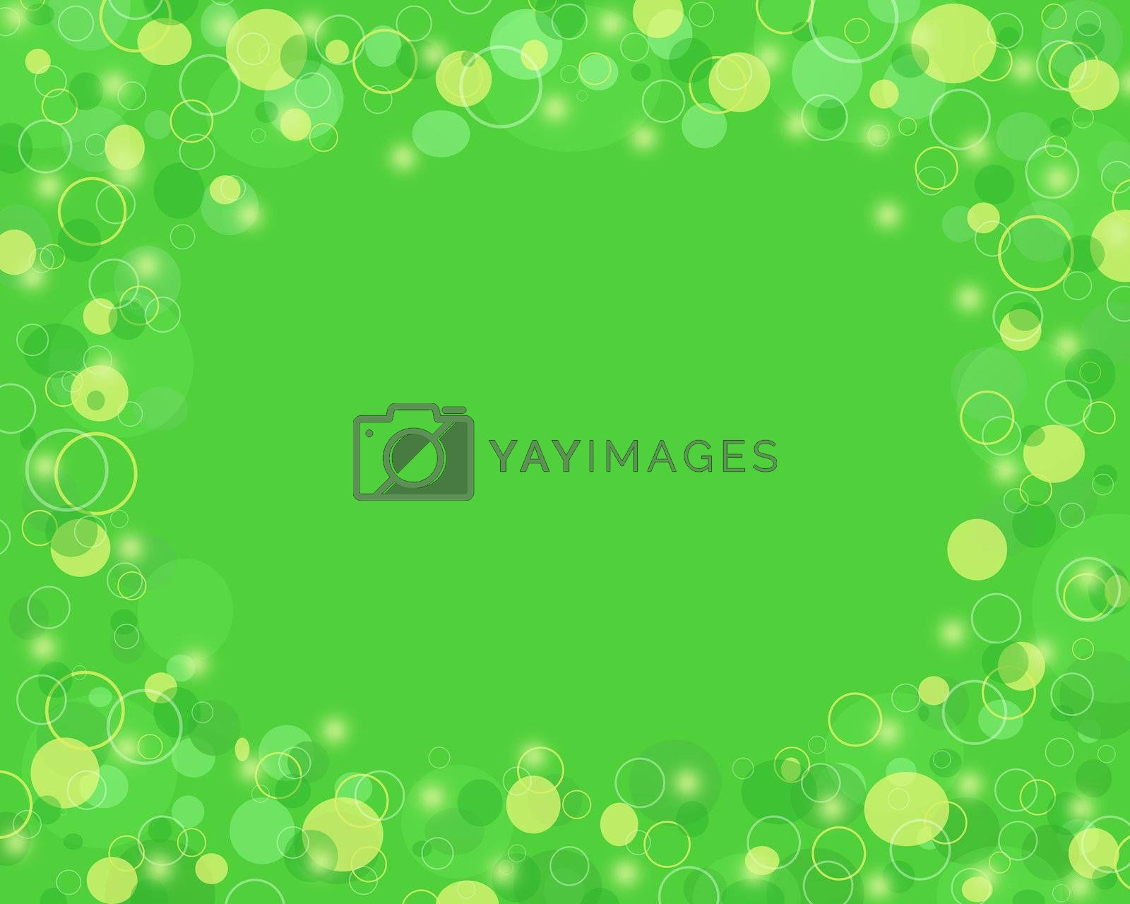Abstract green and yellow circle background