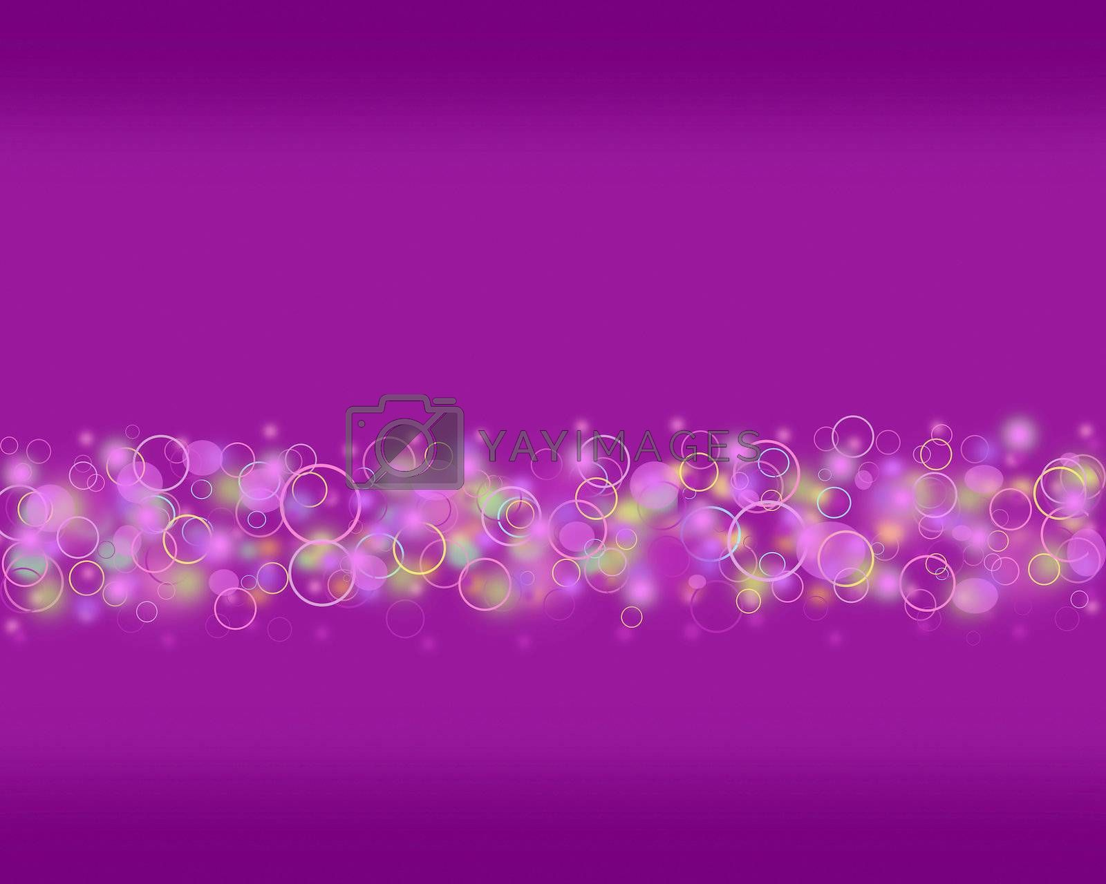 Abstract purple circle background