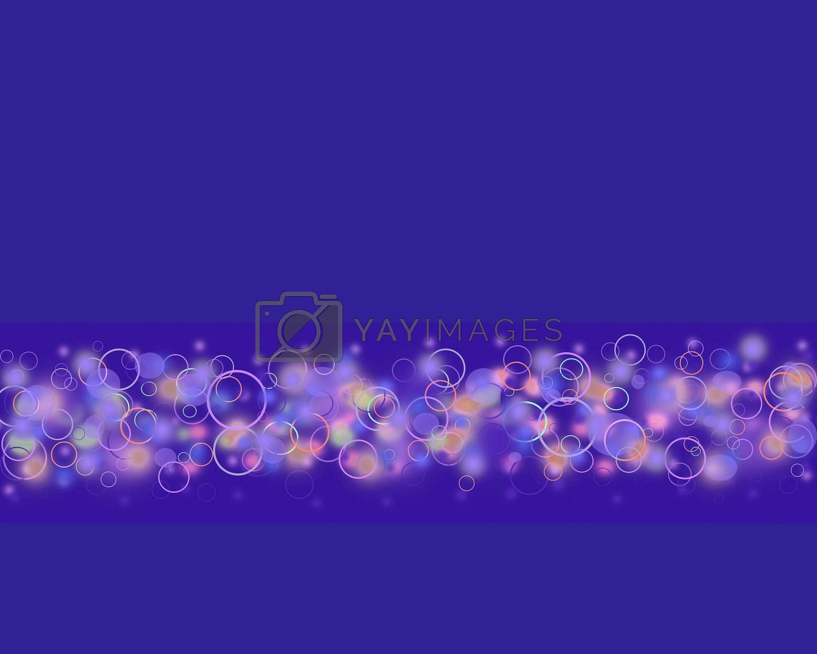Colorful circle on dark blue background