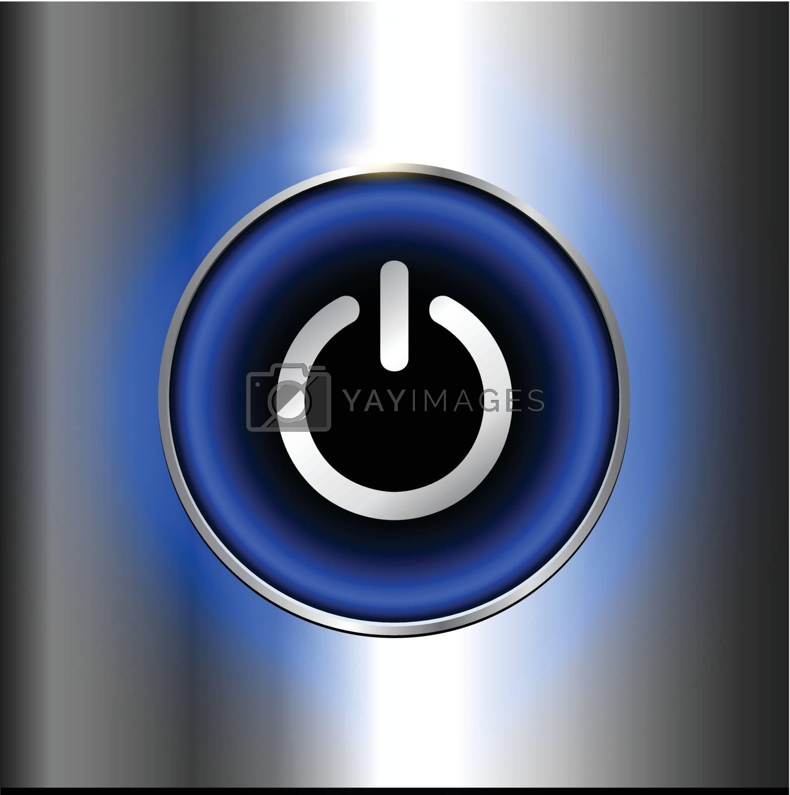 Power button, vector design.