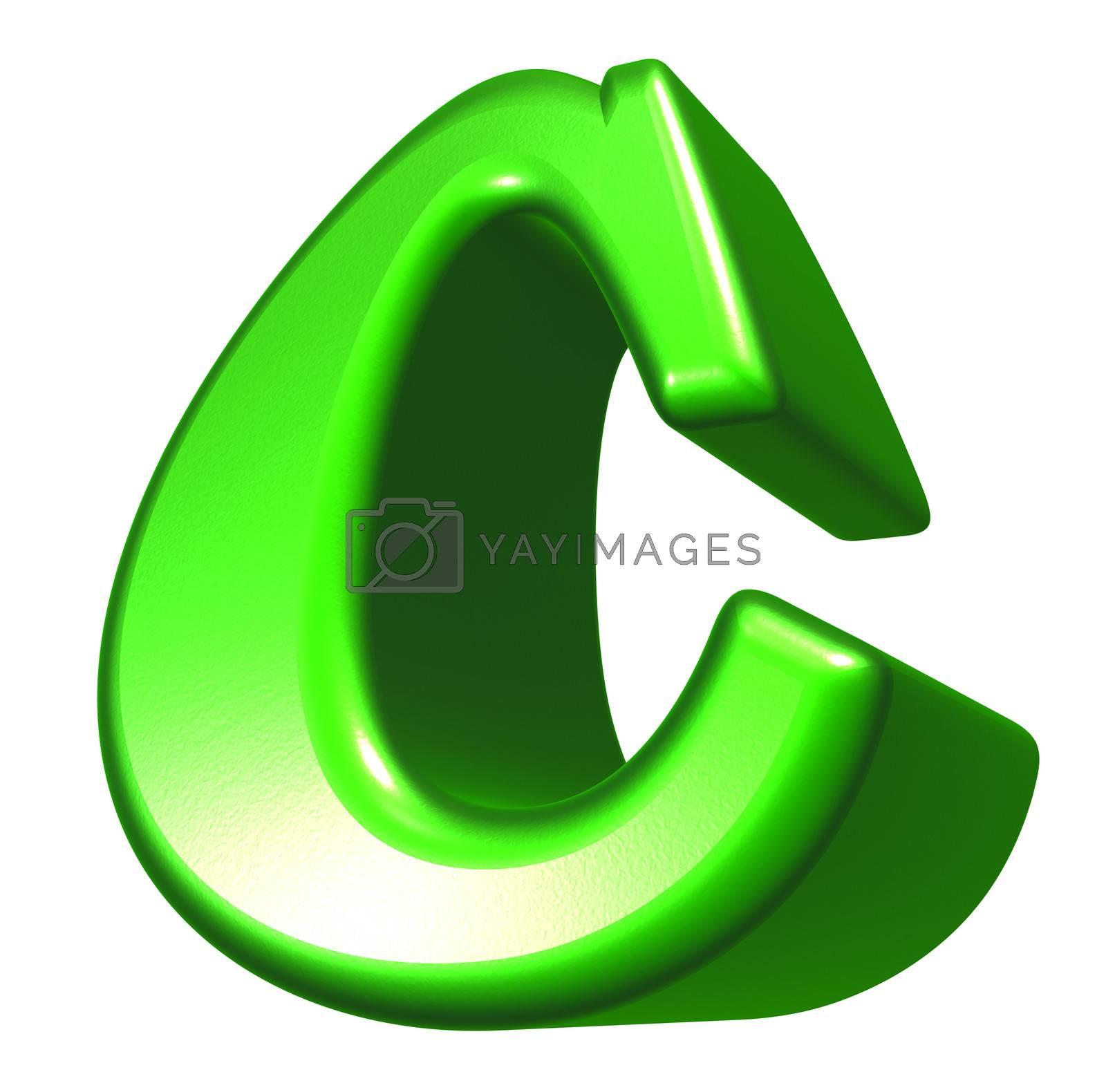 letter c  on white background - 3d illustration