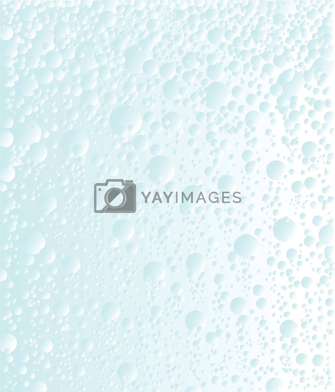 Bubbles rising in carbonated water.
