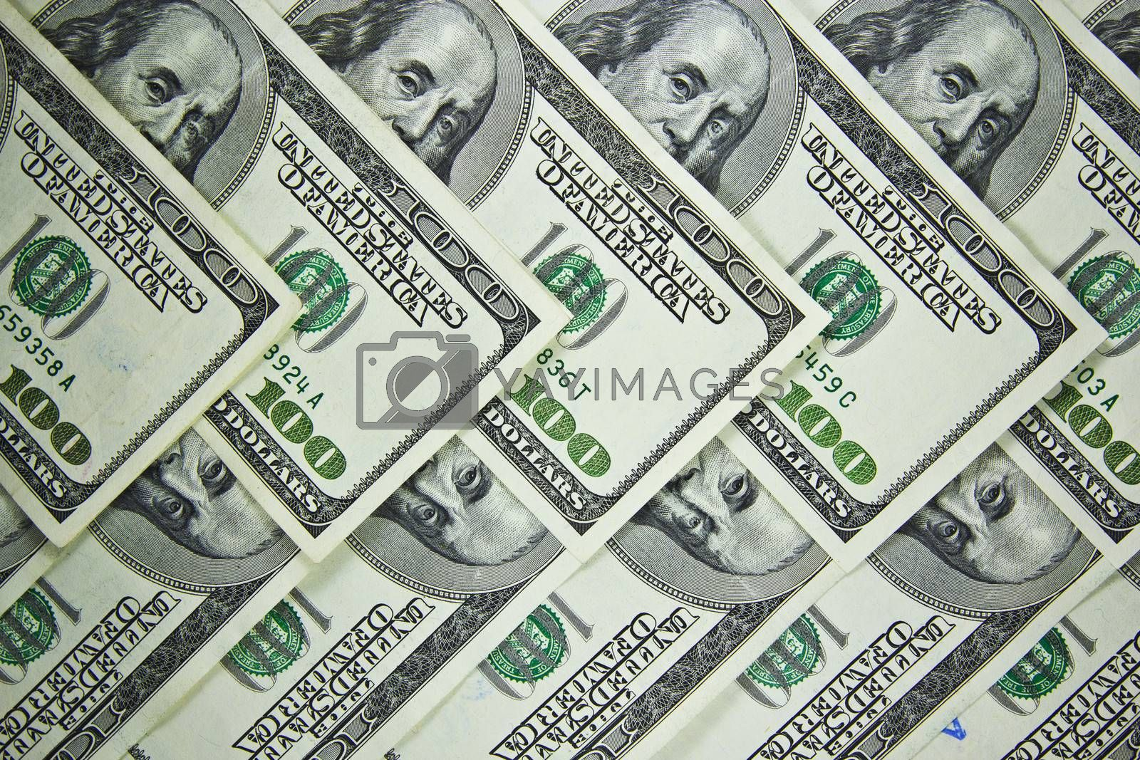 The background of money American hundred dollar bills