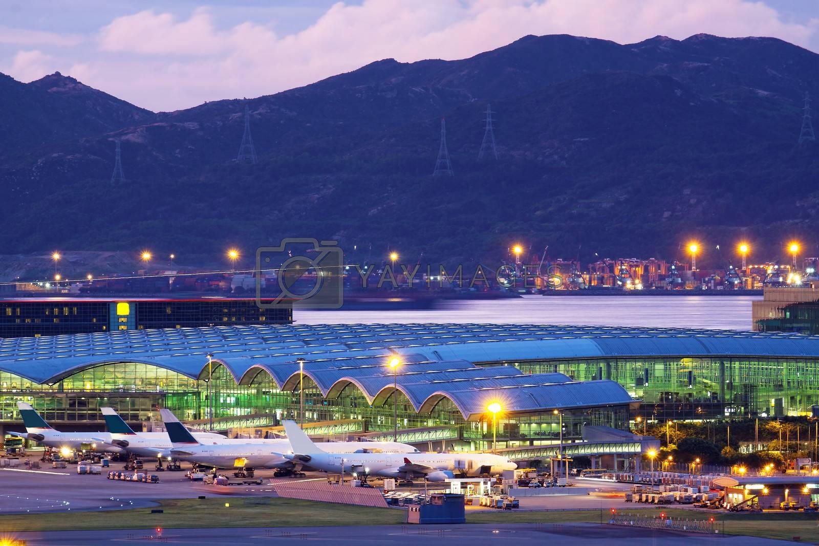 Hongkong airport at tung chung