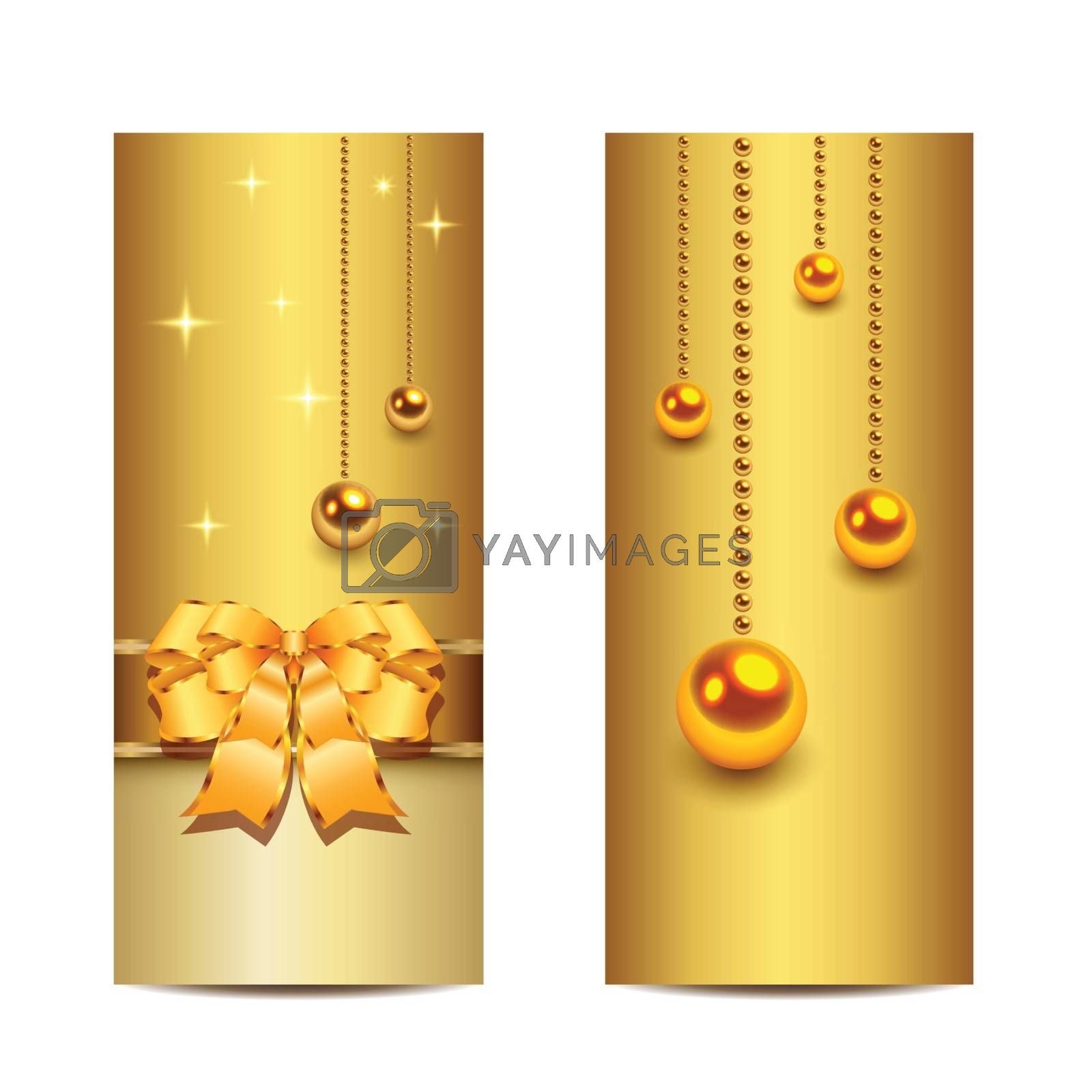 Elegant Christmas banners, vector.