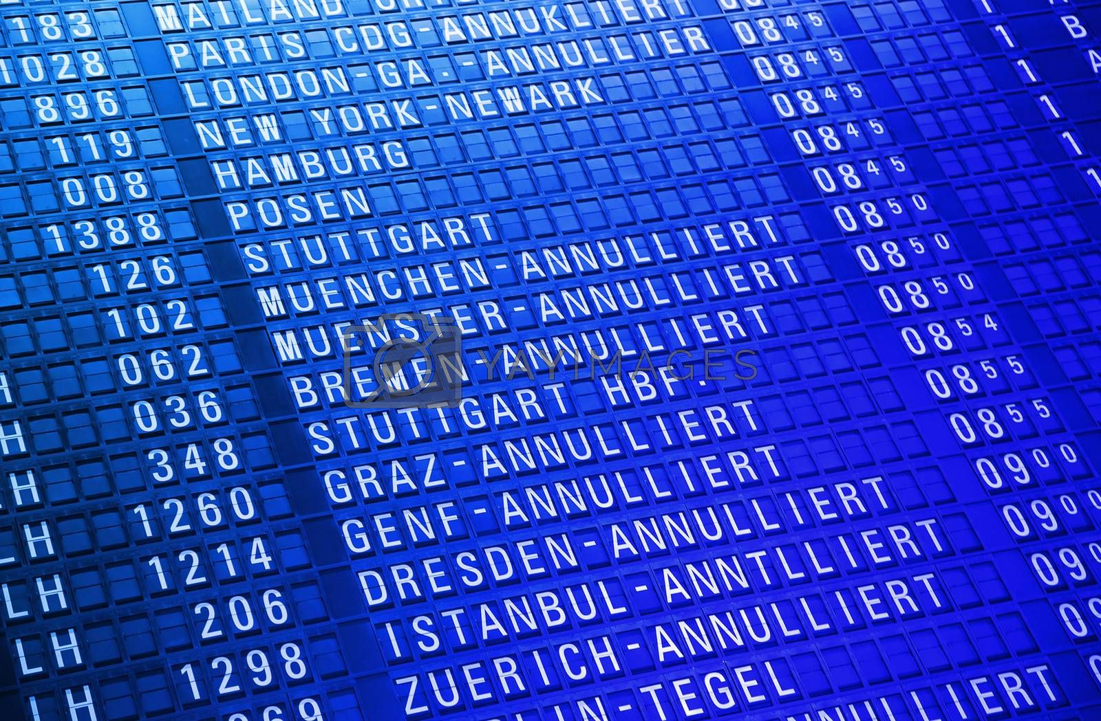 Timeboard in the modern airport