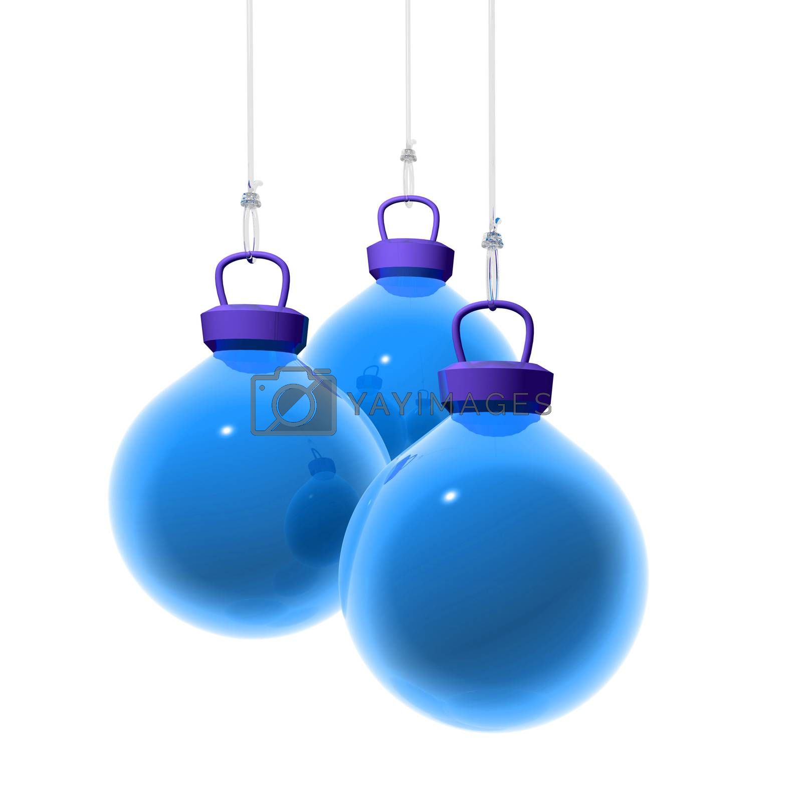 Blue Christmas Balls by ajn