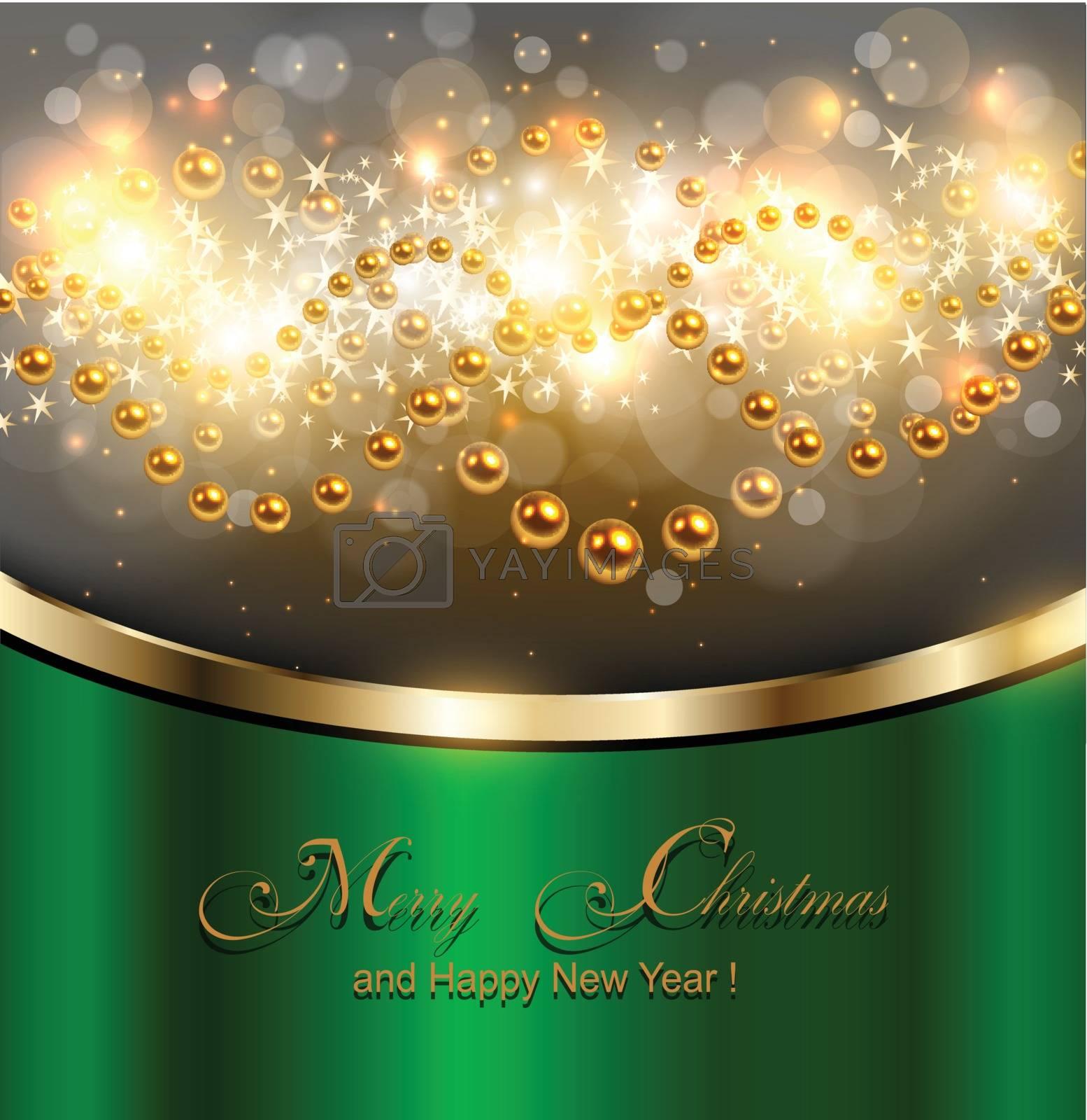 Elegant Christmas background, Vector illustration.