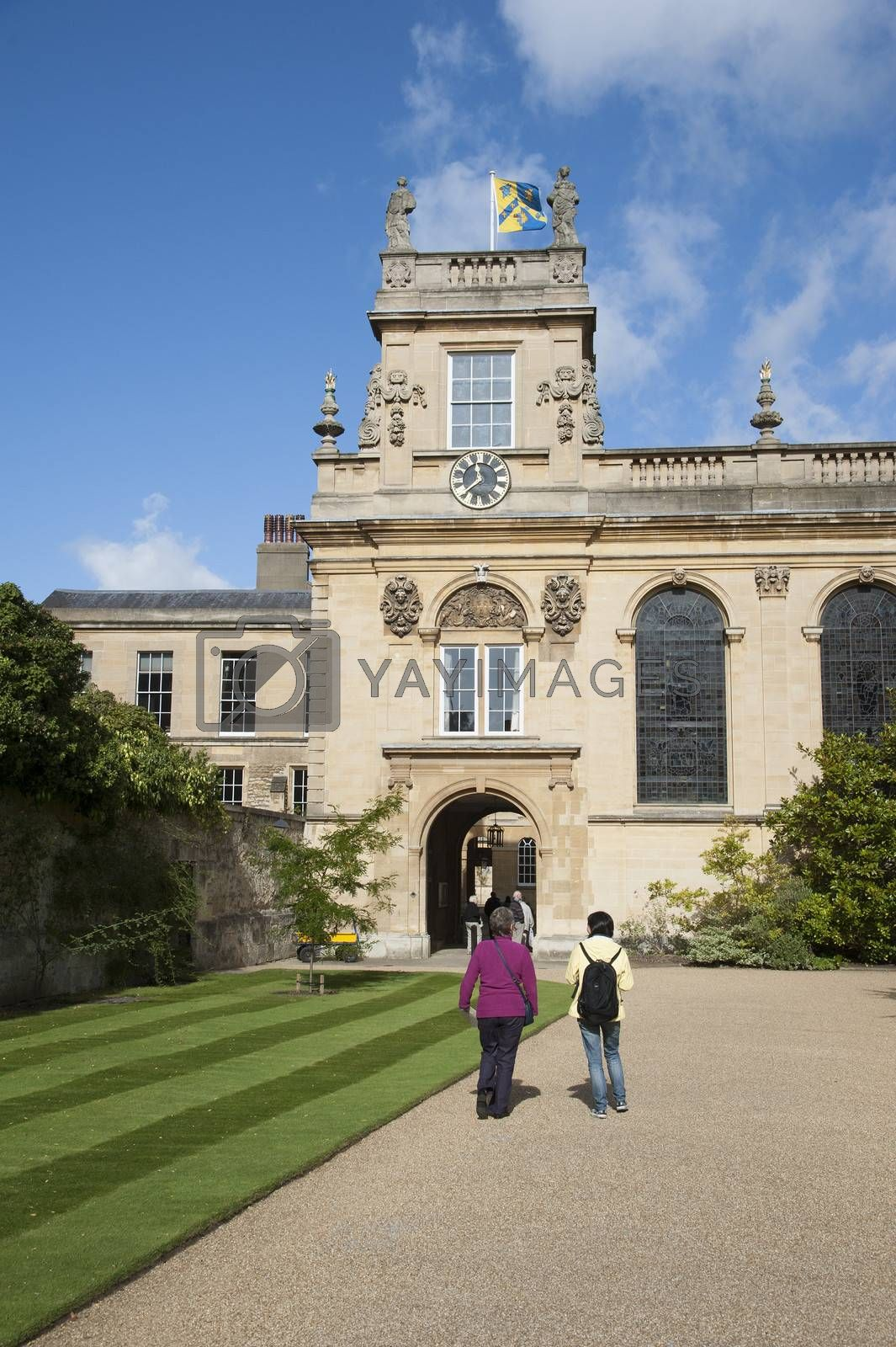 The Chapel at Trinity College Oxford seen from Front Quadrangle. England UK