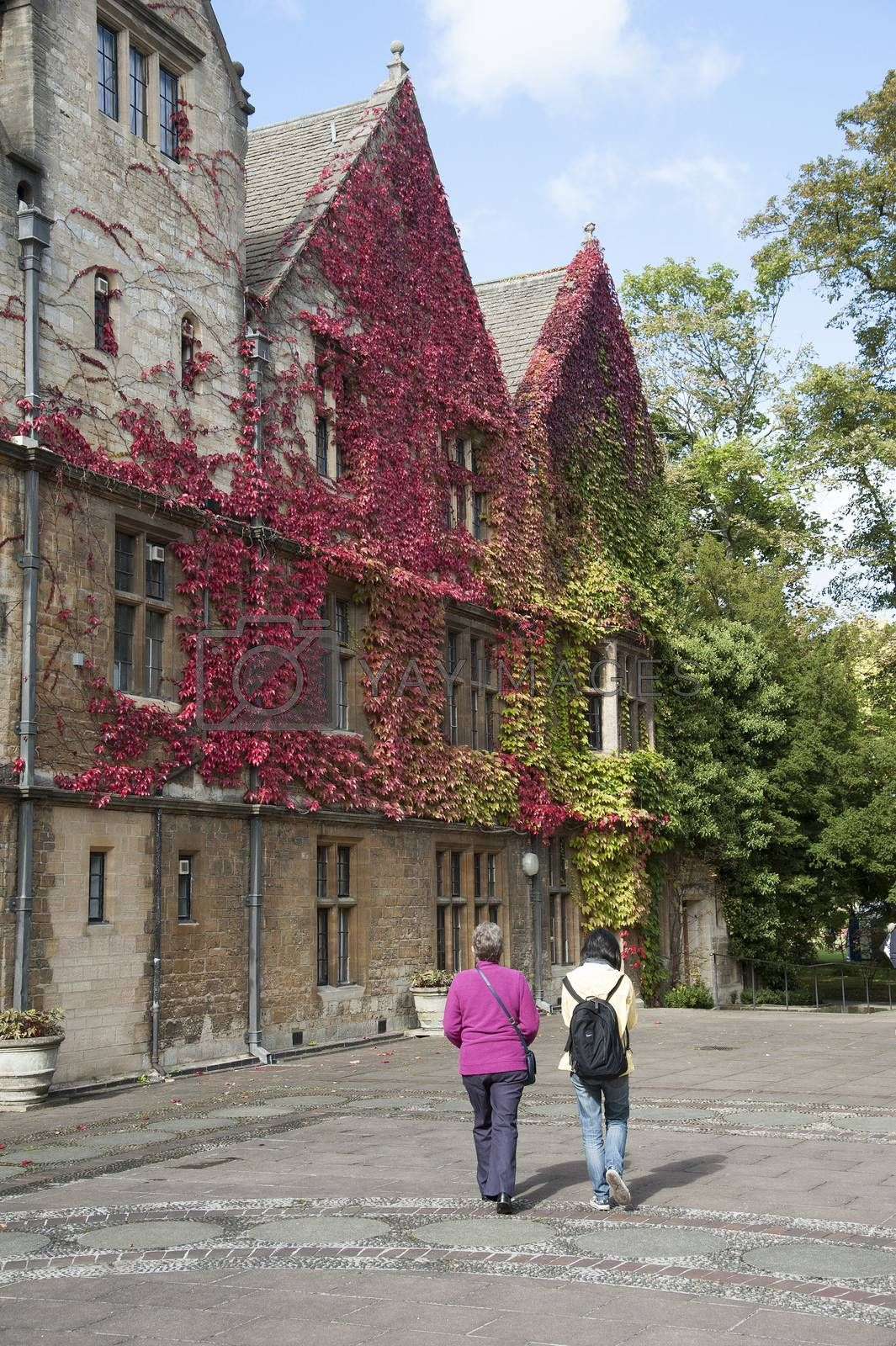 Visitors to Trinity College Oxford UK by Peter t