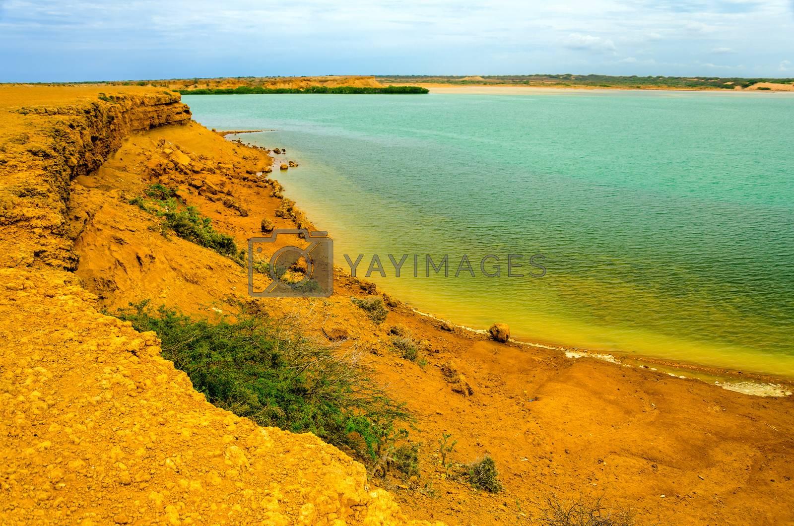 View of Honda Bay as seen from Punta Gallinas in La Guajira, Colombia