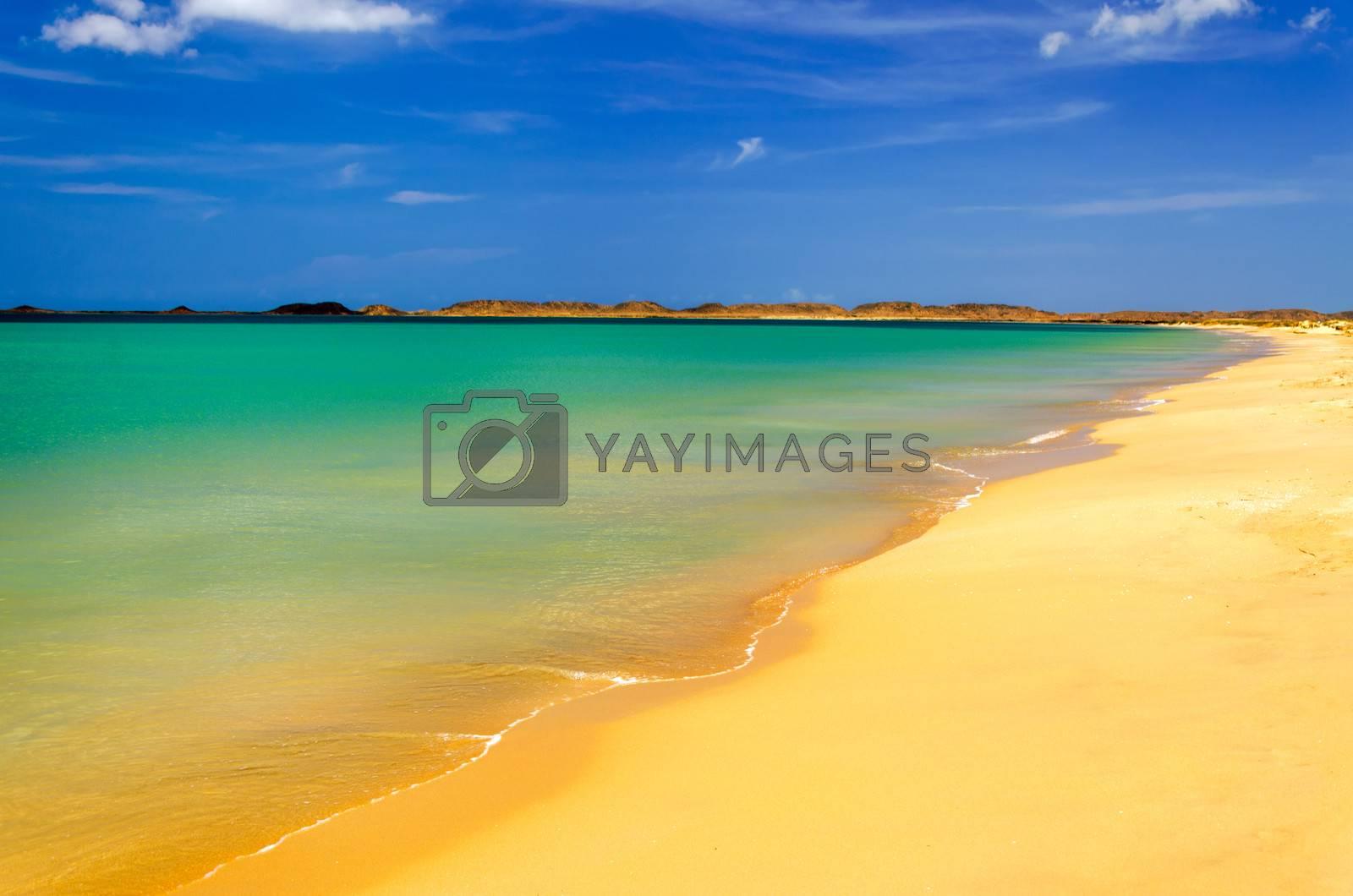 Caribbean beach in La Guajira, Colombia