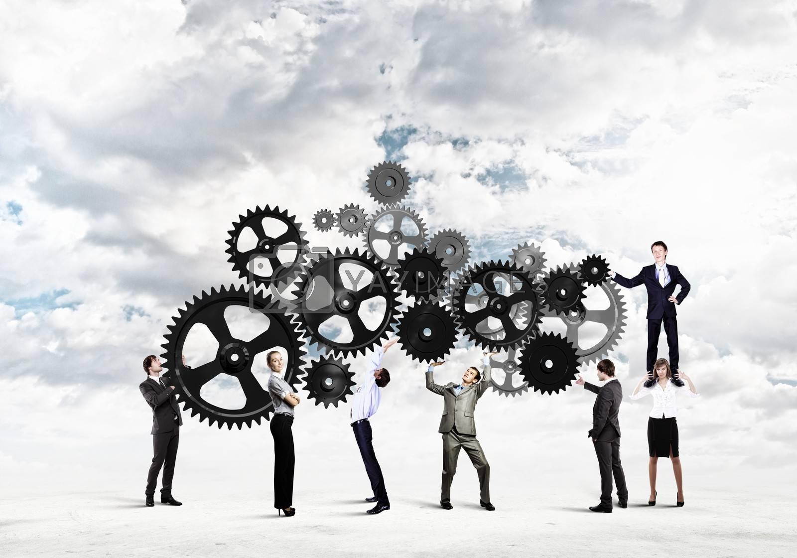 Teamwork concept by Sergey Nivens