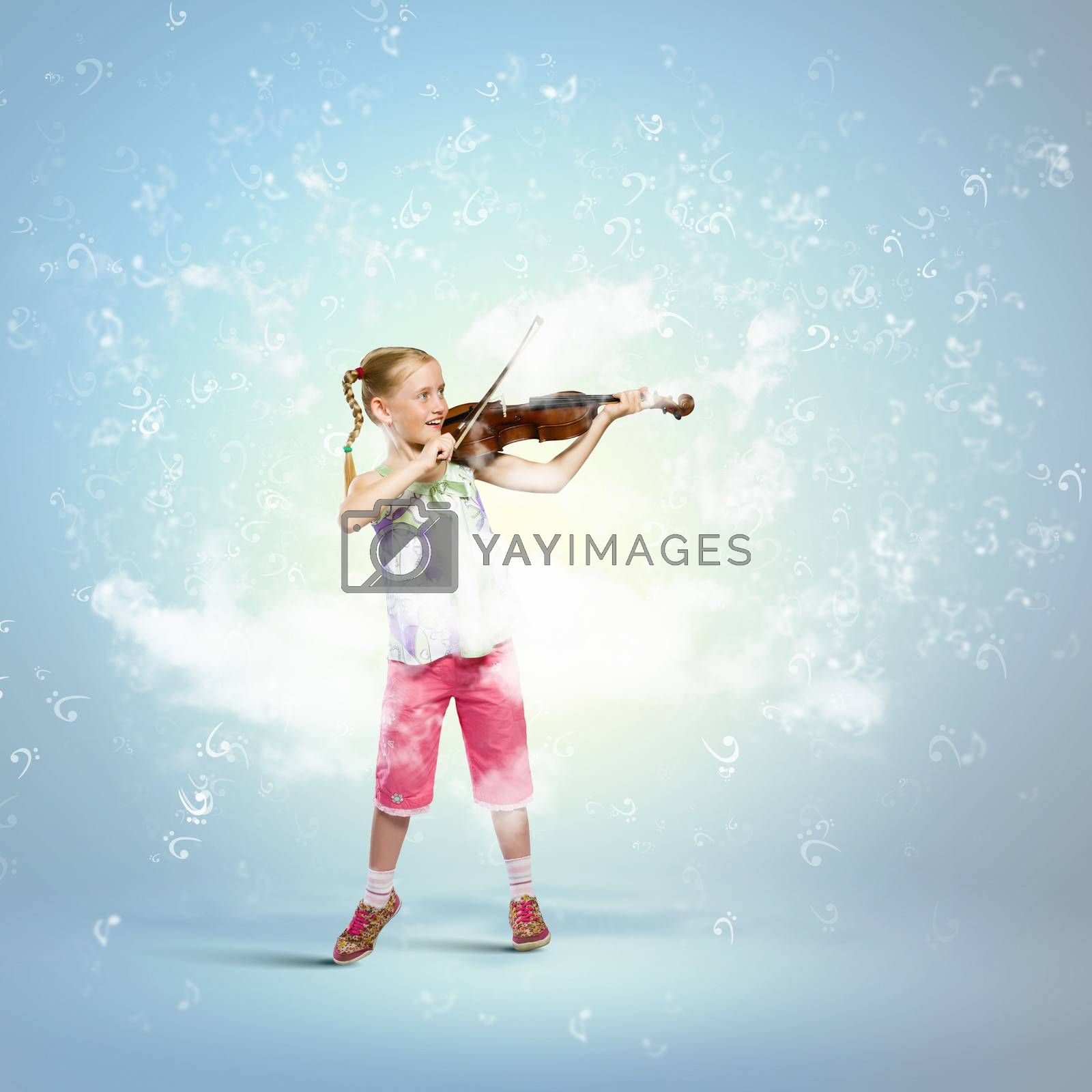 Royalty free image of Girl playing violin by sergey_nivens