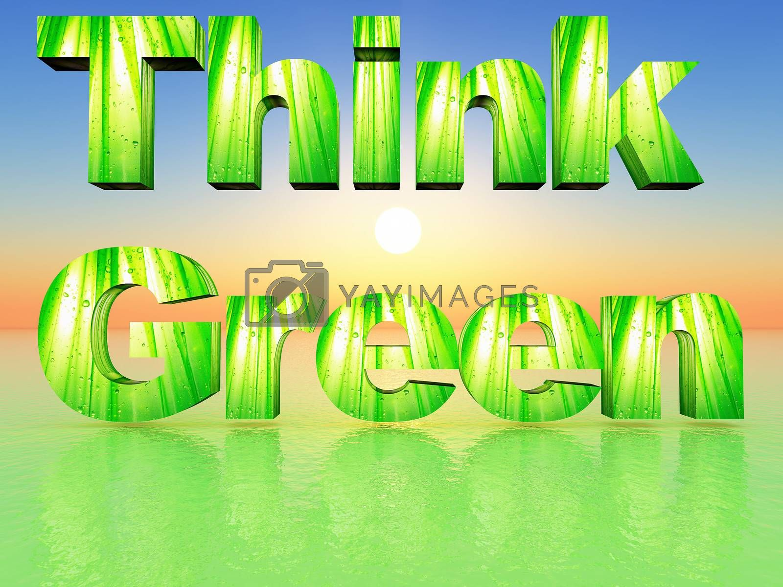 the word think green