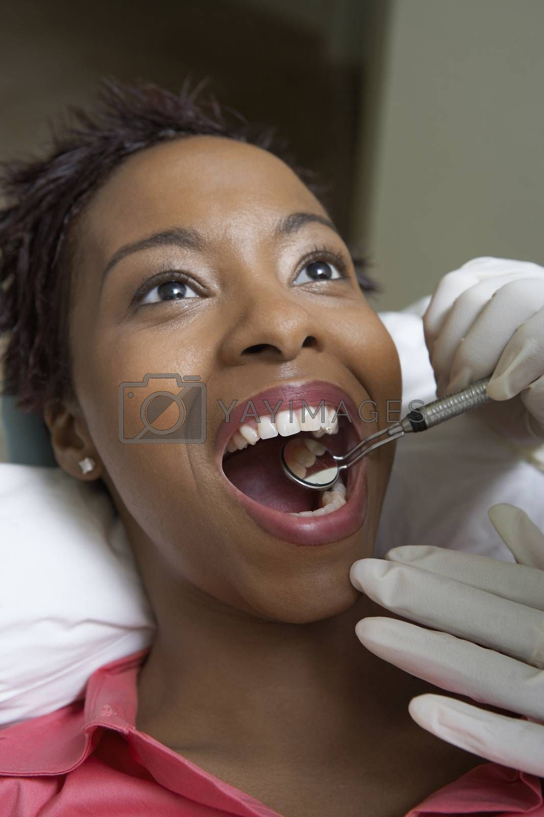 Woman Having Dental Checkup