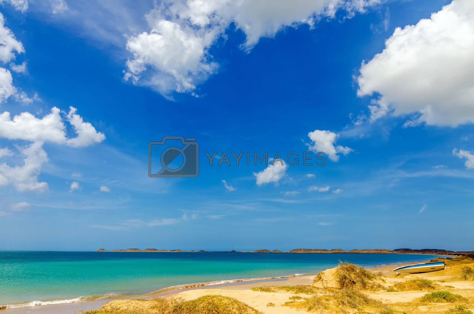 Beach on the Caribbean Sea in La Guajira, Colombia
