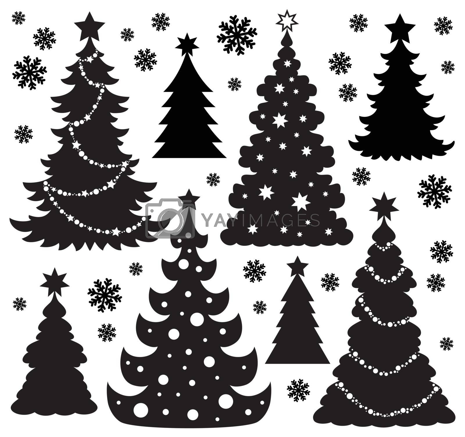 Christmas tree silhouette theme 1 by clairev