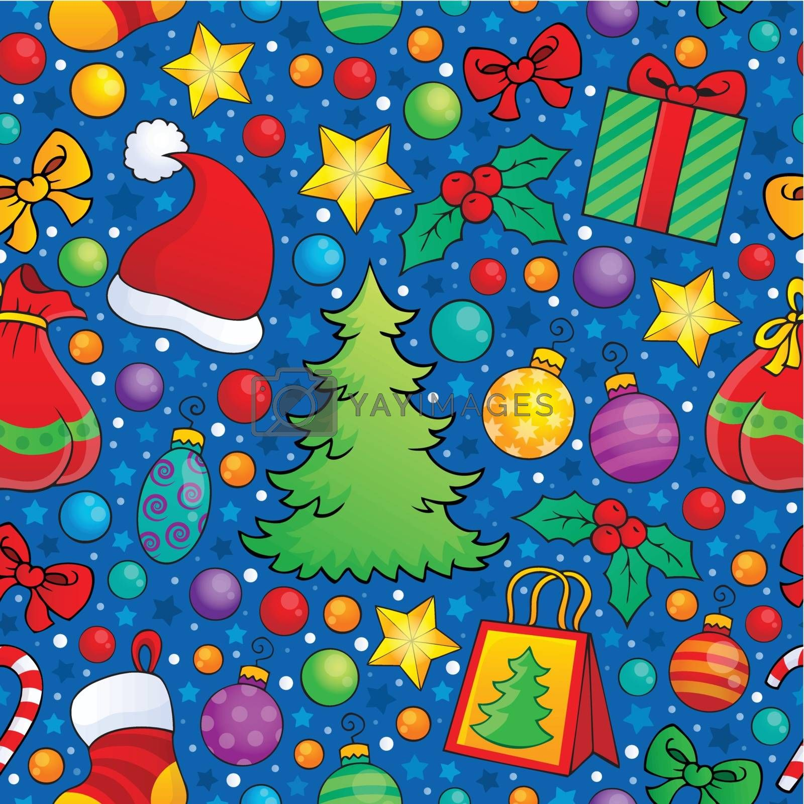 Christmas seamless background 3 - eps10 vector illustration.