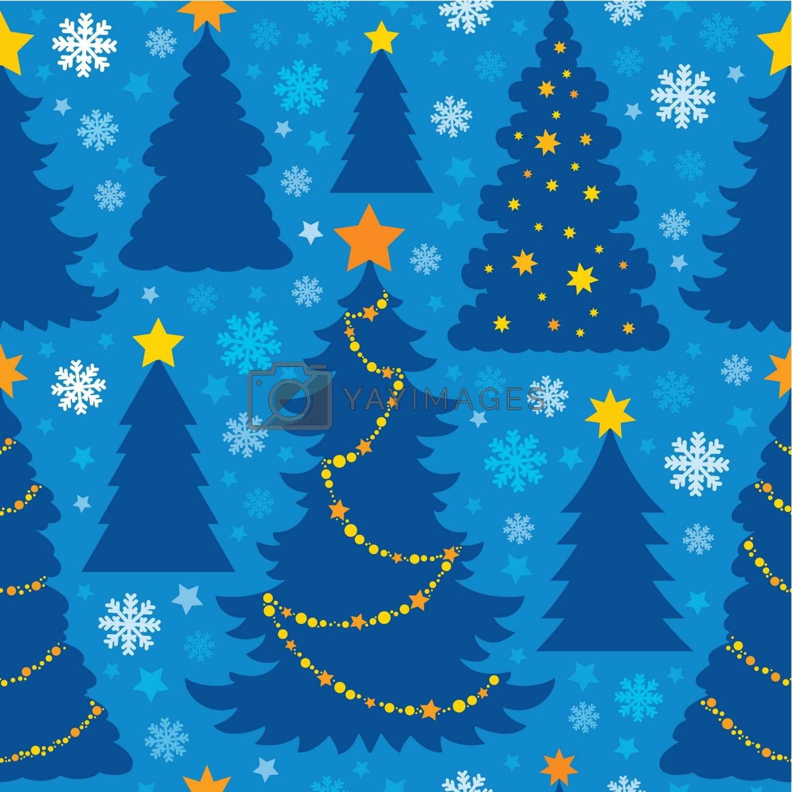 Christmas seamless background 6 - eps10 vector illustration.