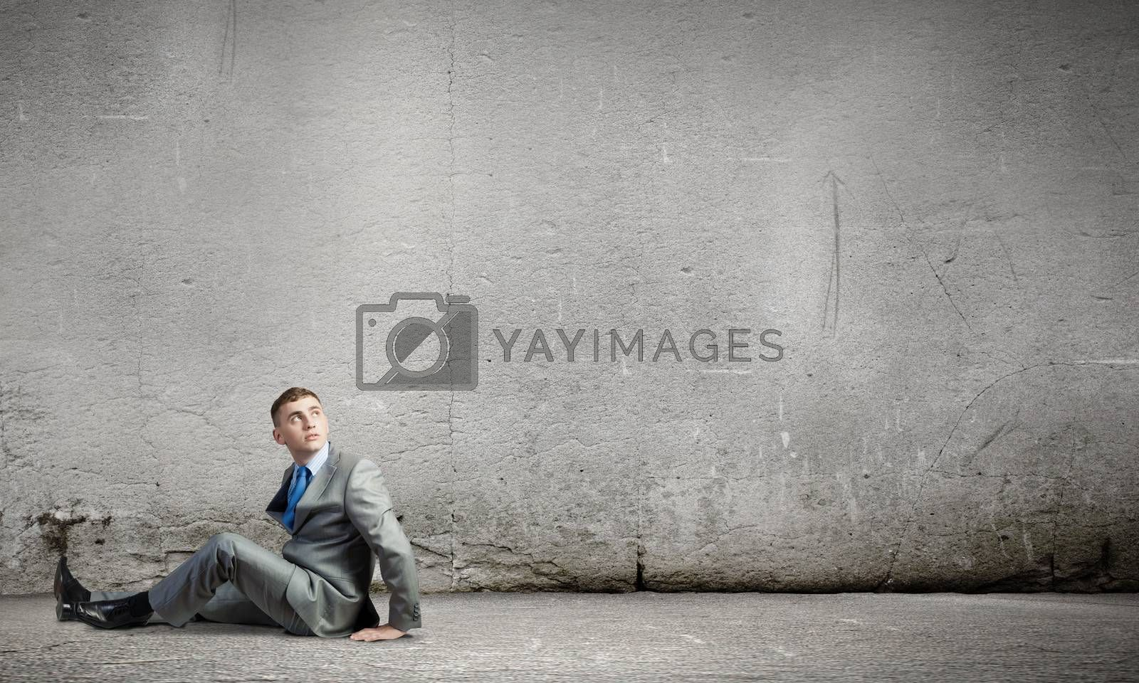 Royalty free image of Sitting businessman by sergey_nivens