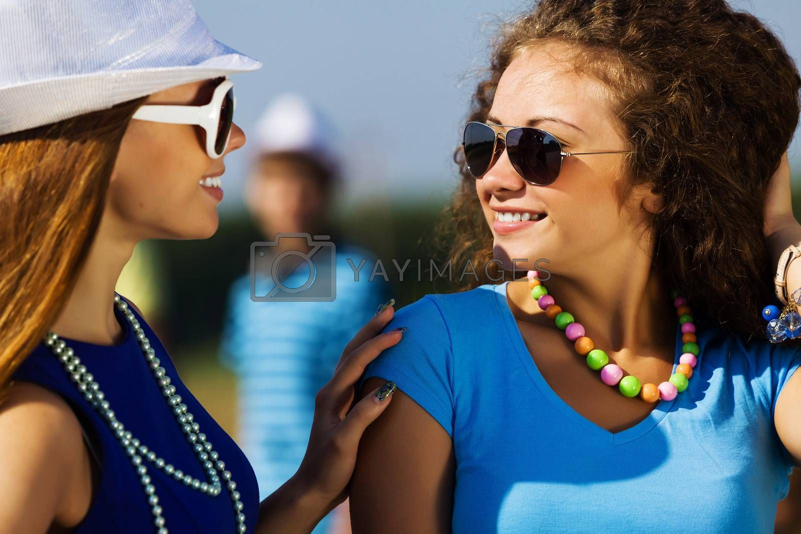 Royalty free image of Youth and friendship by sergey_nivens