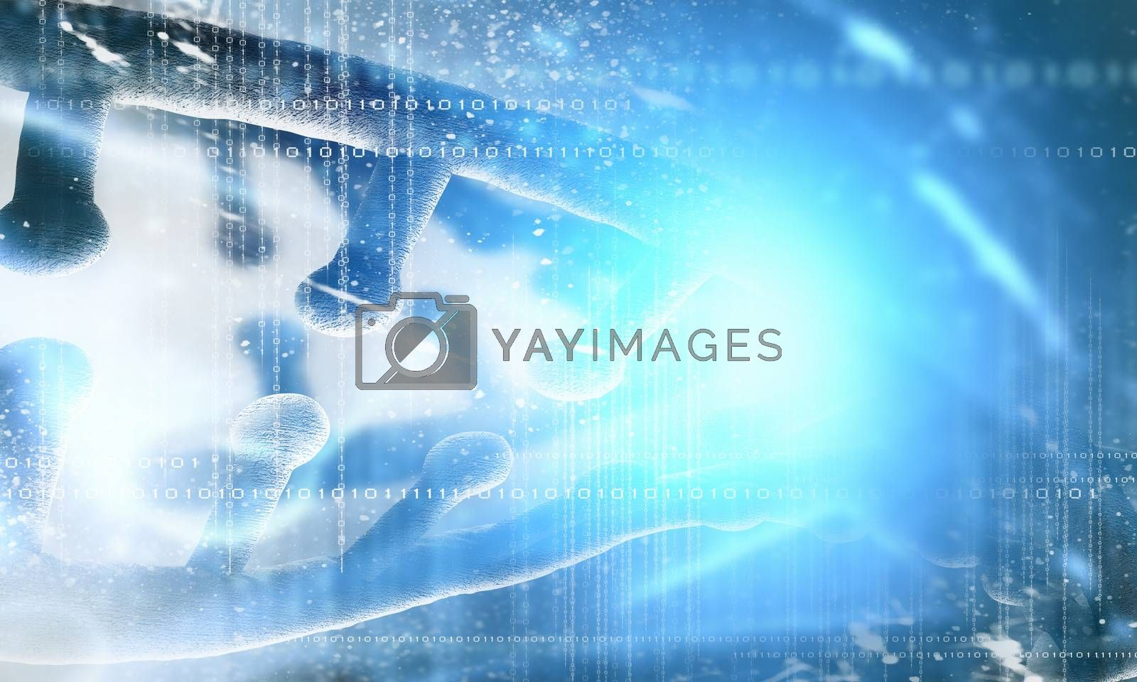Royalty free image of DNA molecule by sergey_nivens