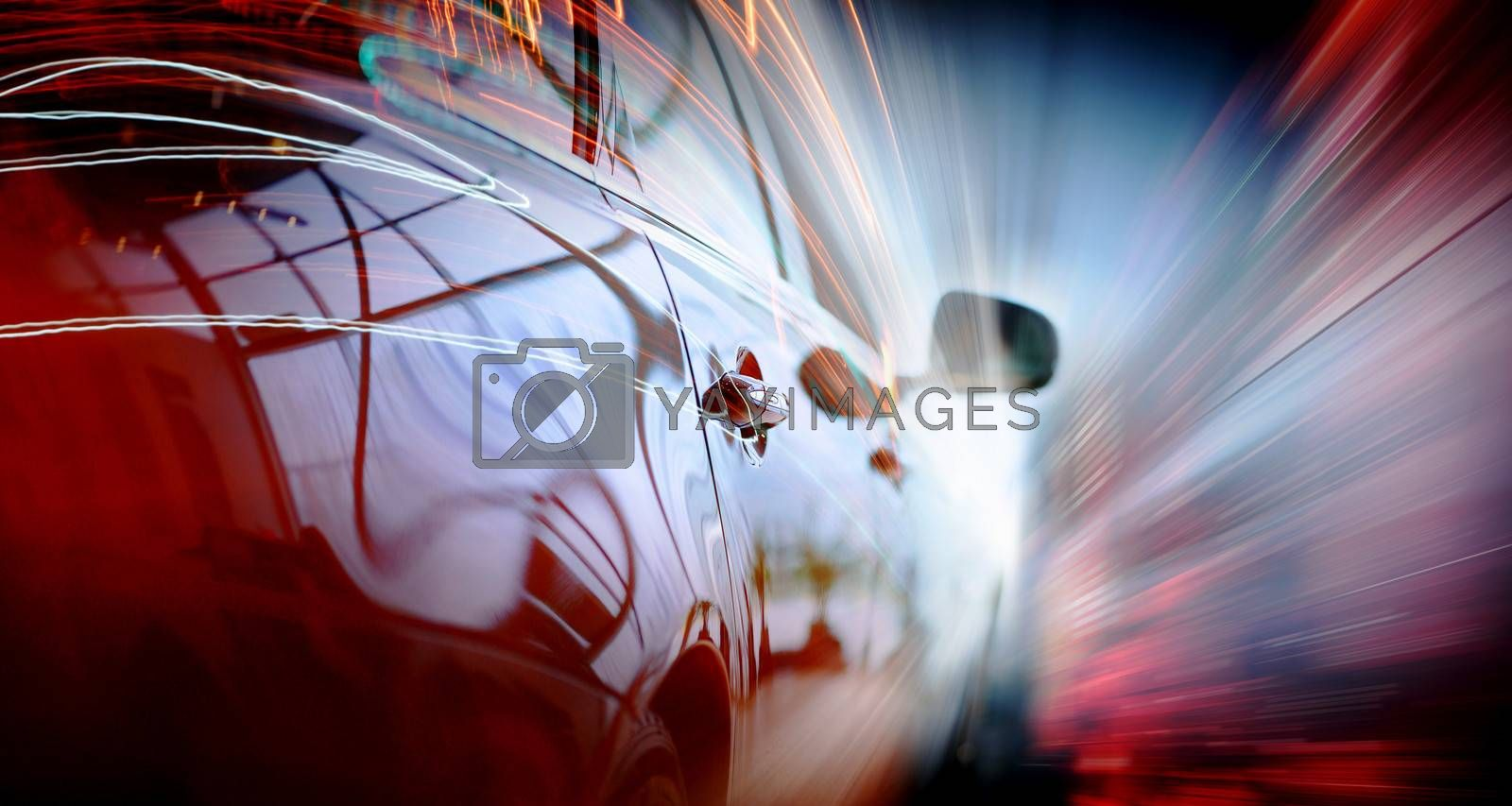Royalty free image of Rear view of luxury car by sergey_nivens