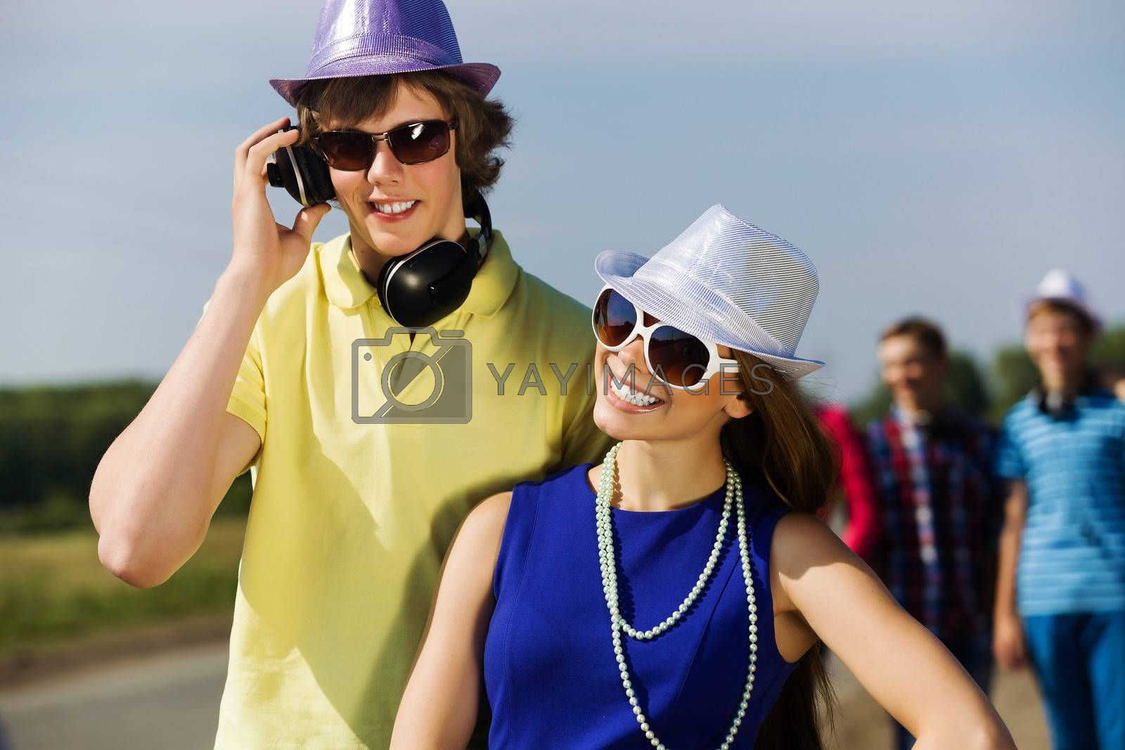 Royalty free image of Young couple by sergey_nivens