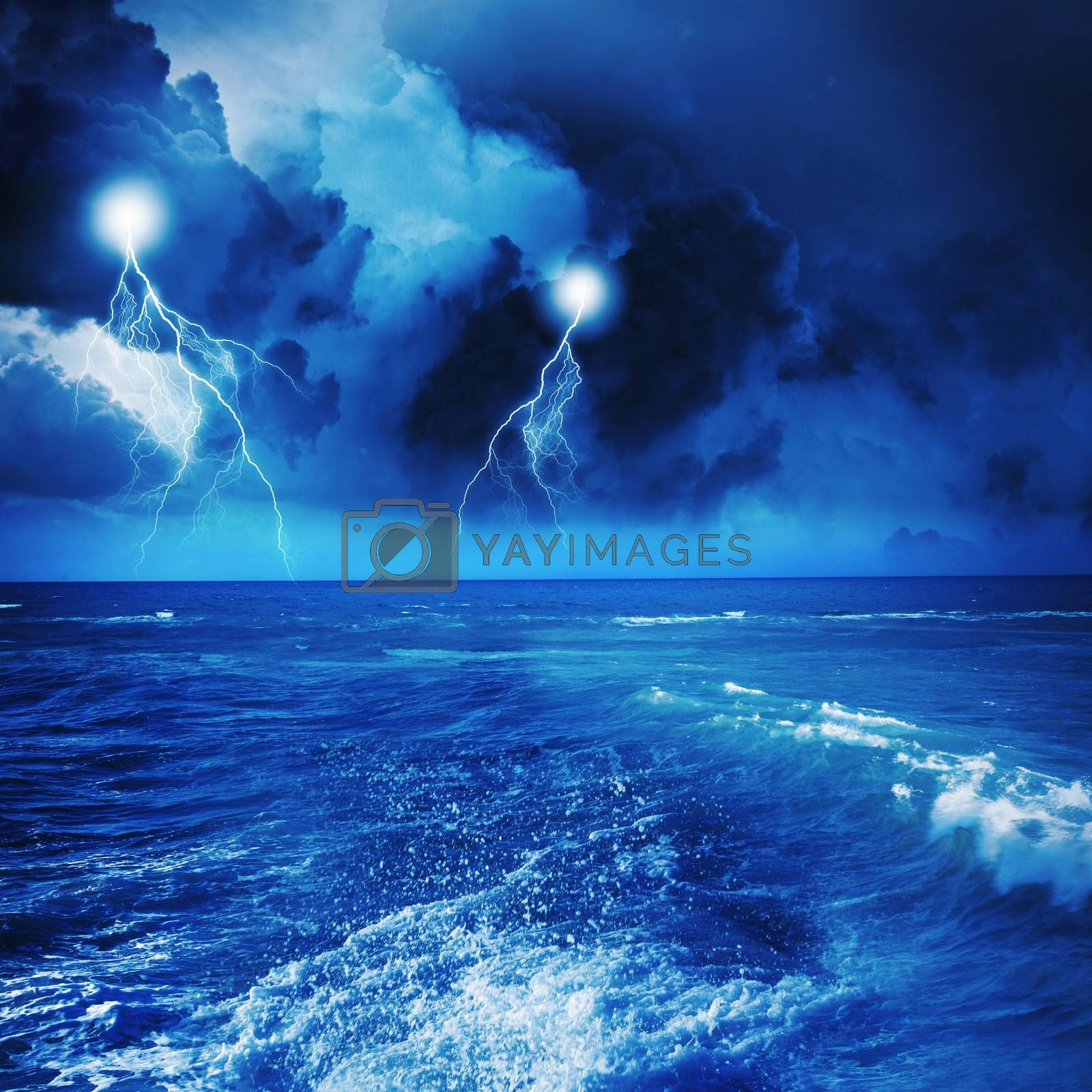Royalty free image of Storm at night by sergey_nivens