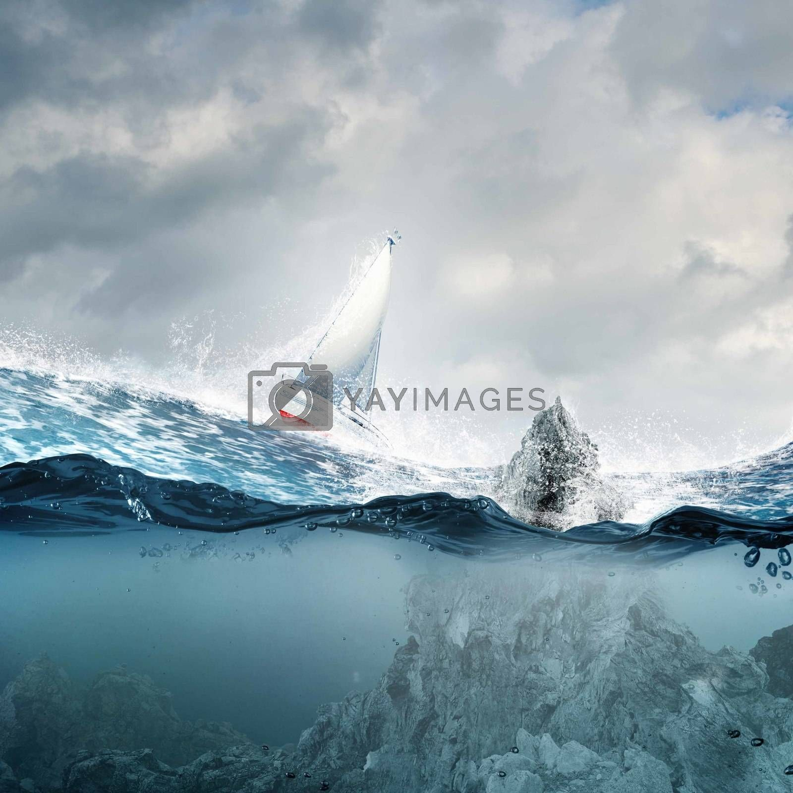 Royalty free image of Yachting sport by sergey_nivens
