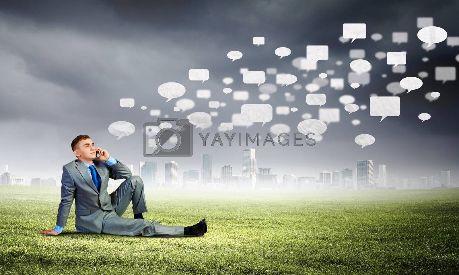 Royalty free image of Communication concept by sergey_nivens