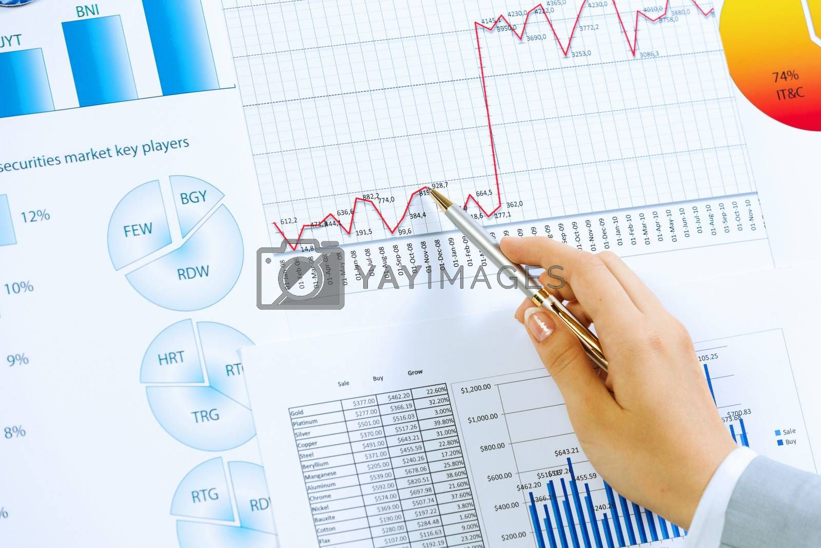 Royalty free image of Business analysis by sergey_nivens