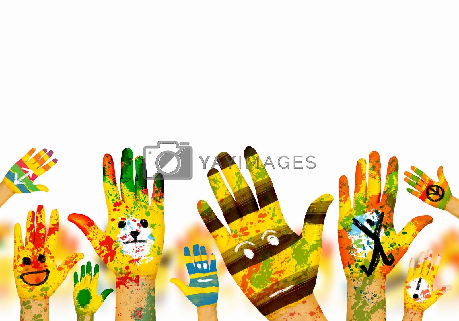 Royalty free image of Hands in paint by sergey_nivens