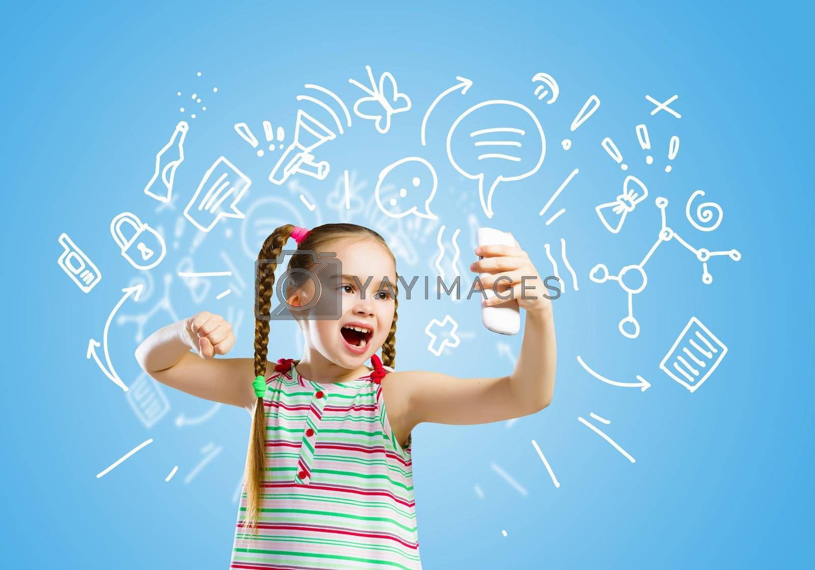 Royalty free image of Kid in anger by sergey_nivens