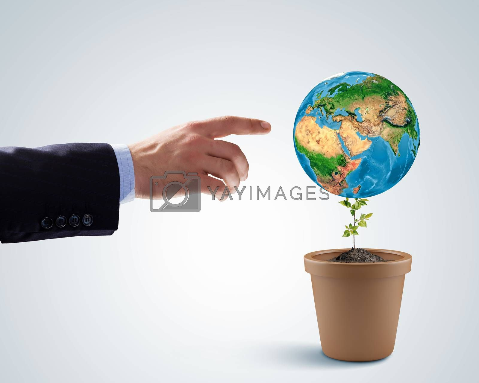 Royalty free image of Save our planet by sergey_nivens