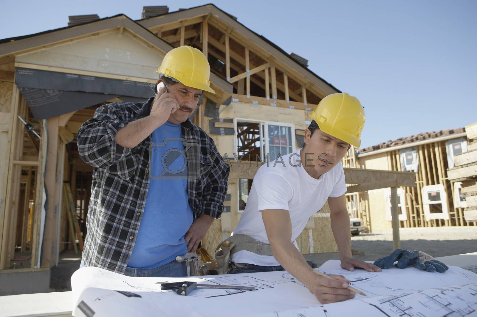 Builders At Construction Site
