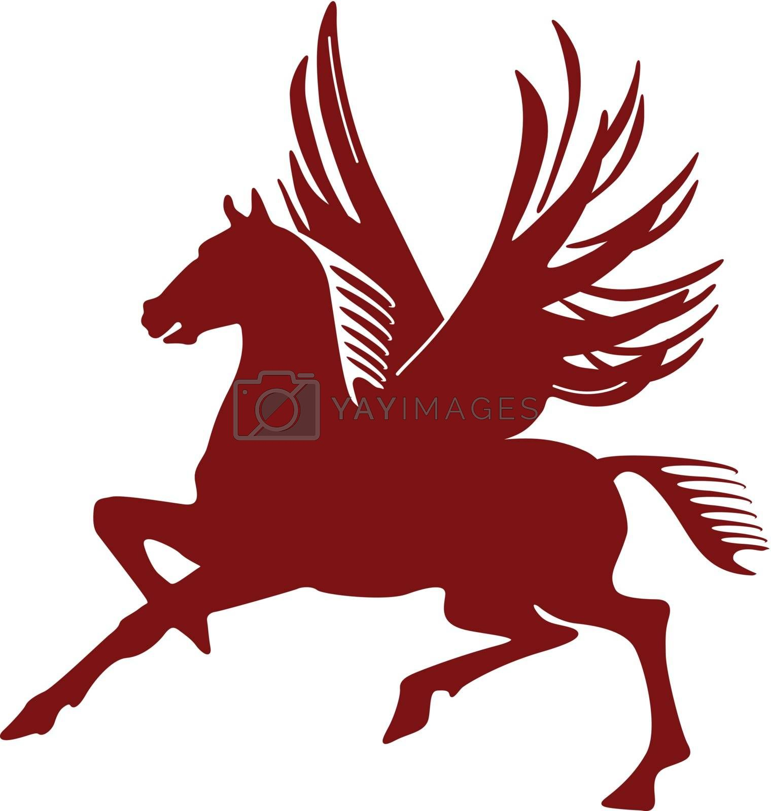 pegasus, flying horse by scusi